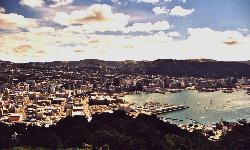 View on Wellington, capital city of New Zealand (click for enlargement)
